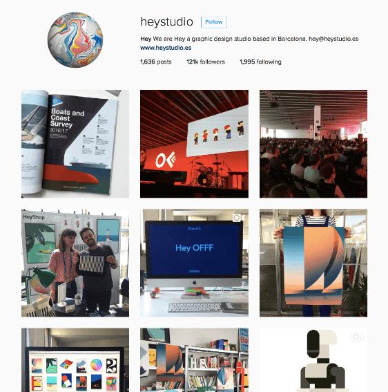 hey studio instagram