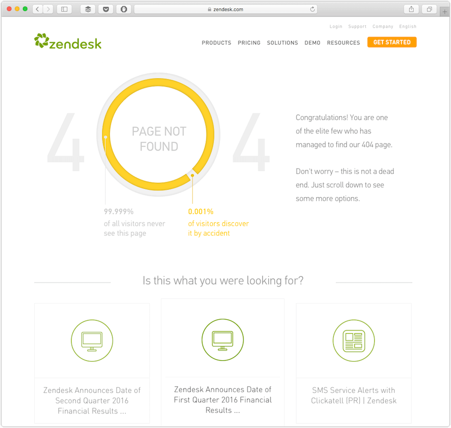 zendesk 404 page