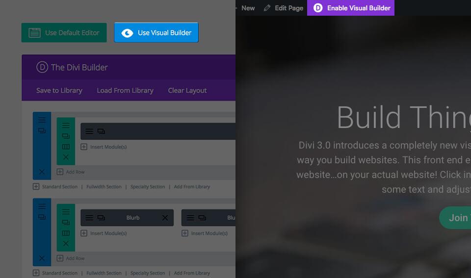 divi 3.0 visual builder