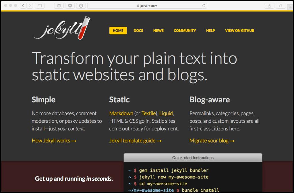 wordpress alternative jekyll