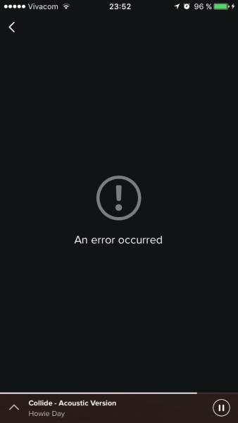 spotify error message