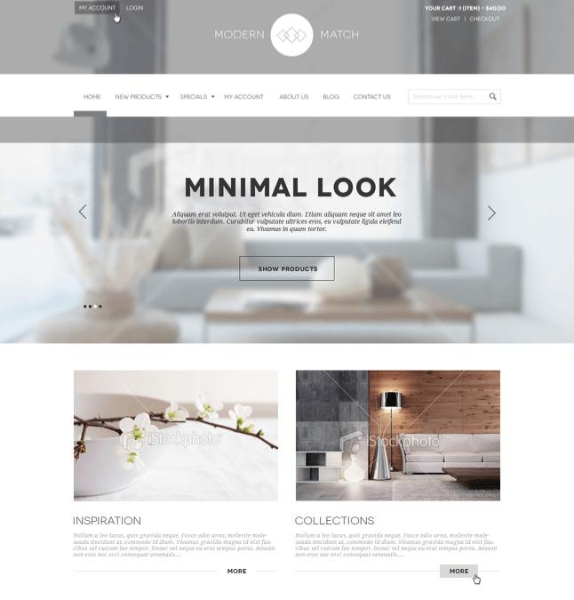minimal website colors