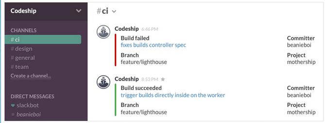 codeship integration usersnap