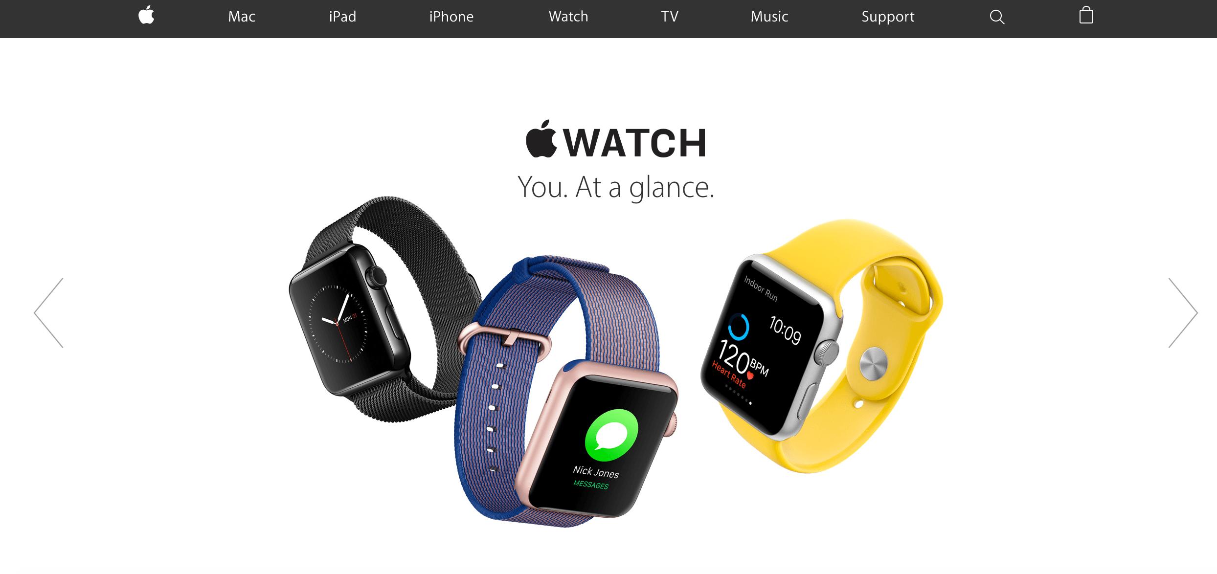 new apple website